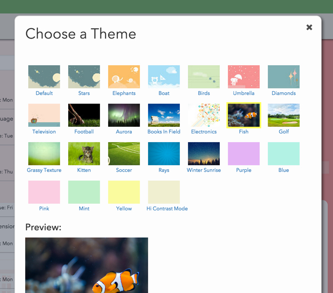 New themes